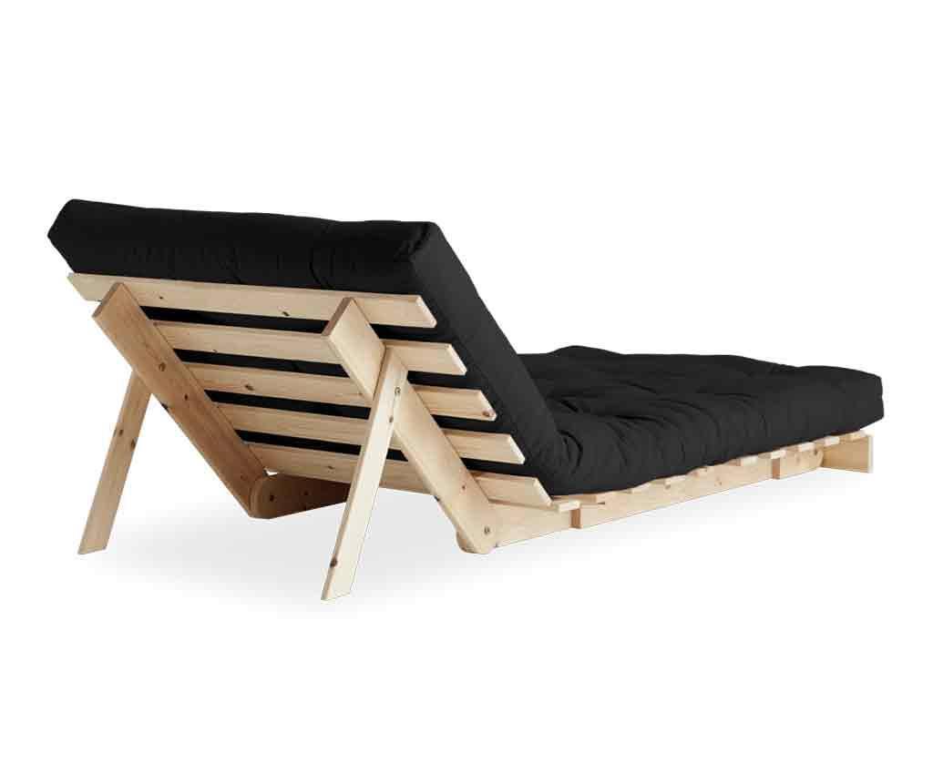 Roots Raw & Dark Grey Kihúzható fotel 90x200 cm