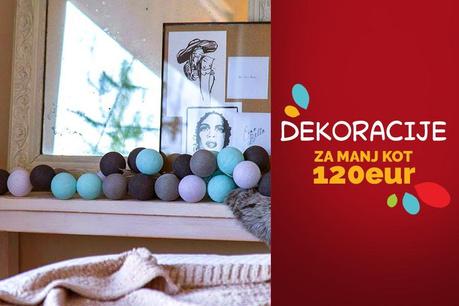 Dekorativni predmeti za manj kot 120 EUR