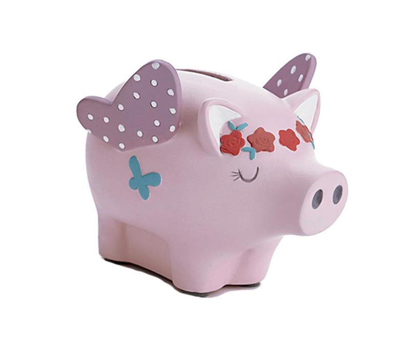 Hranilnik Flying Pig Pink