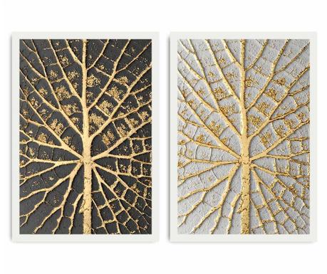 Set 2 tablouri Leaf Detai 35x50 cm