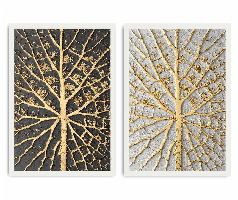 Leaf Detai 2 db Kép 35x50 cm
