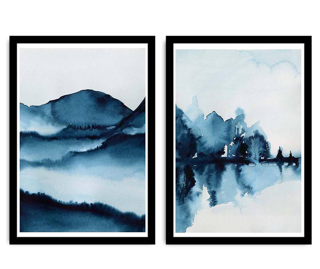 Set 2 tablouri Shadows In Nature 36x51 cm