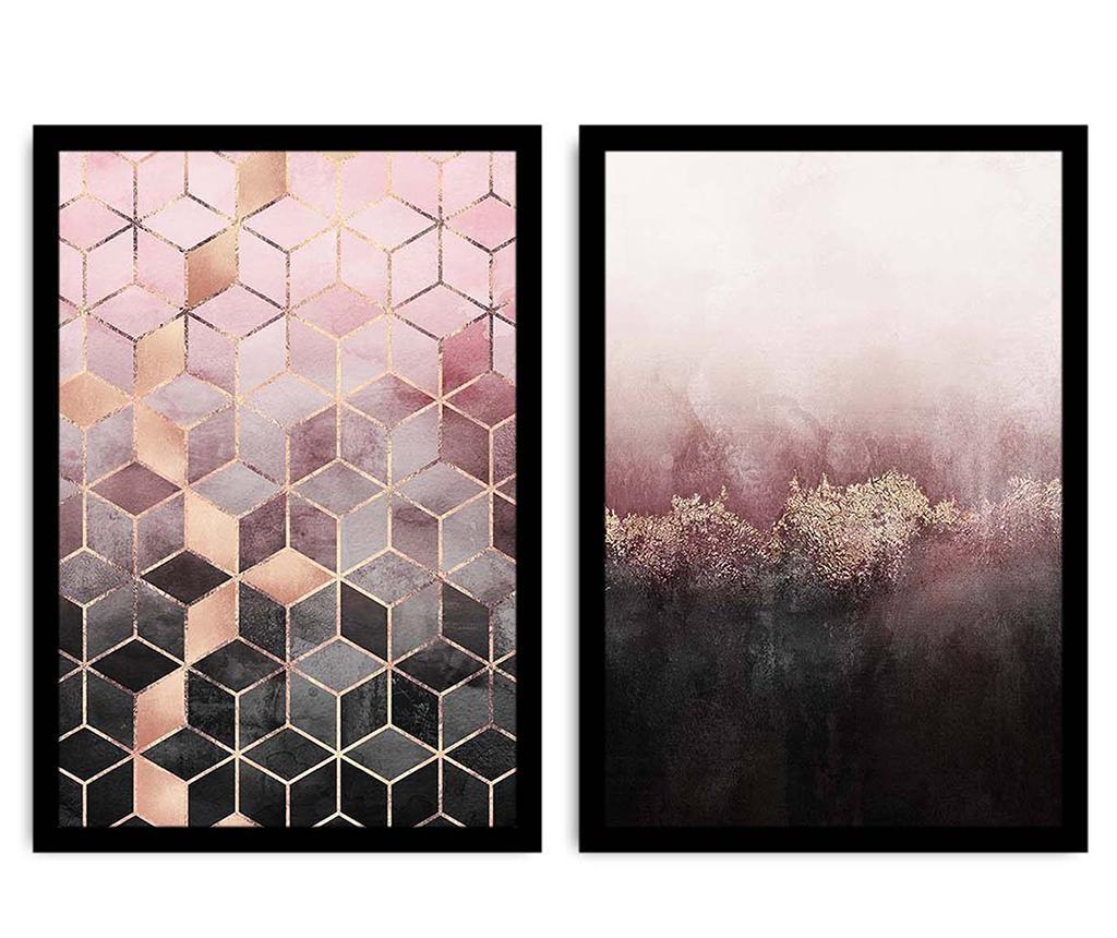 Set 2 slike Geometric Delight 36x51 cm