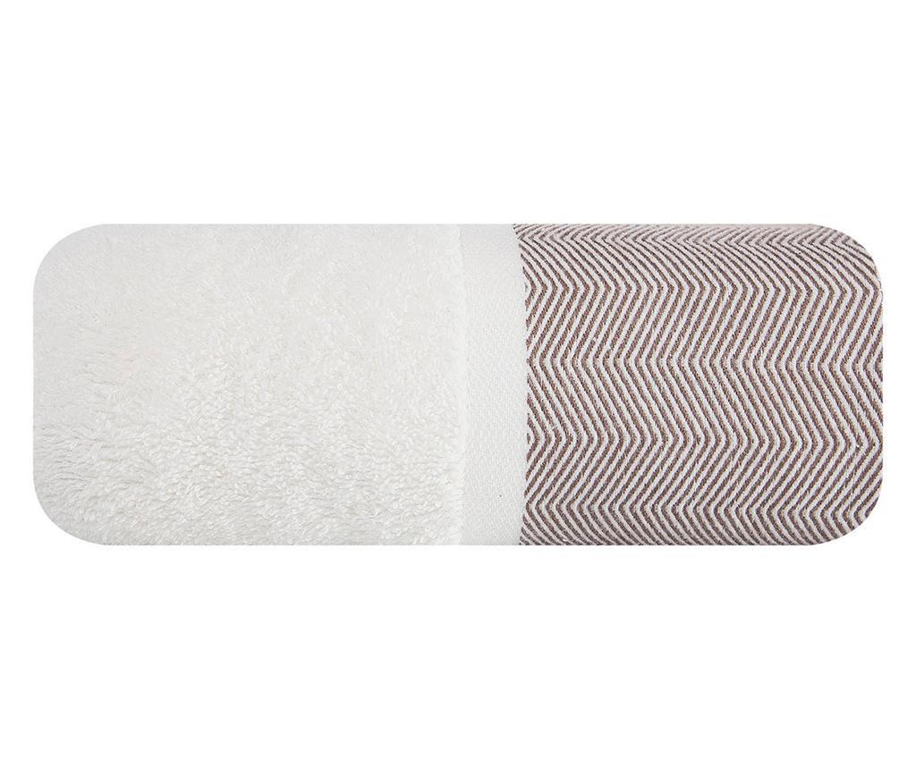 Prosop de baie Zigzag White Brown 70x140 cm