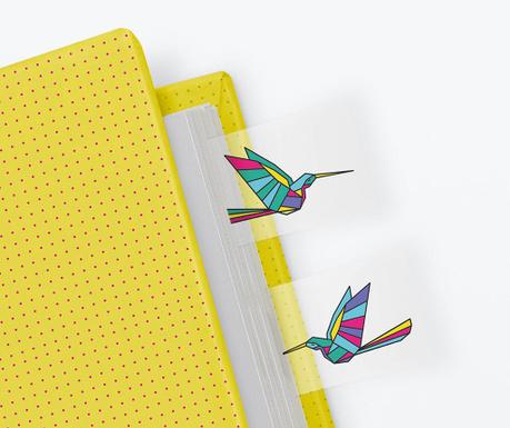 Zestaw 100 oznaczników do kartek Hummingbird
