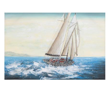 Obraz Boat On Waves 80x120 cm