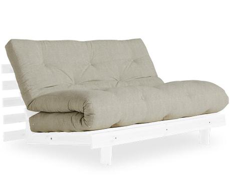 Sofa extensibila Roots White & Linen Half 140x200 cm