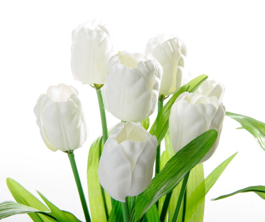 Umetna lončnica Tulips White