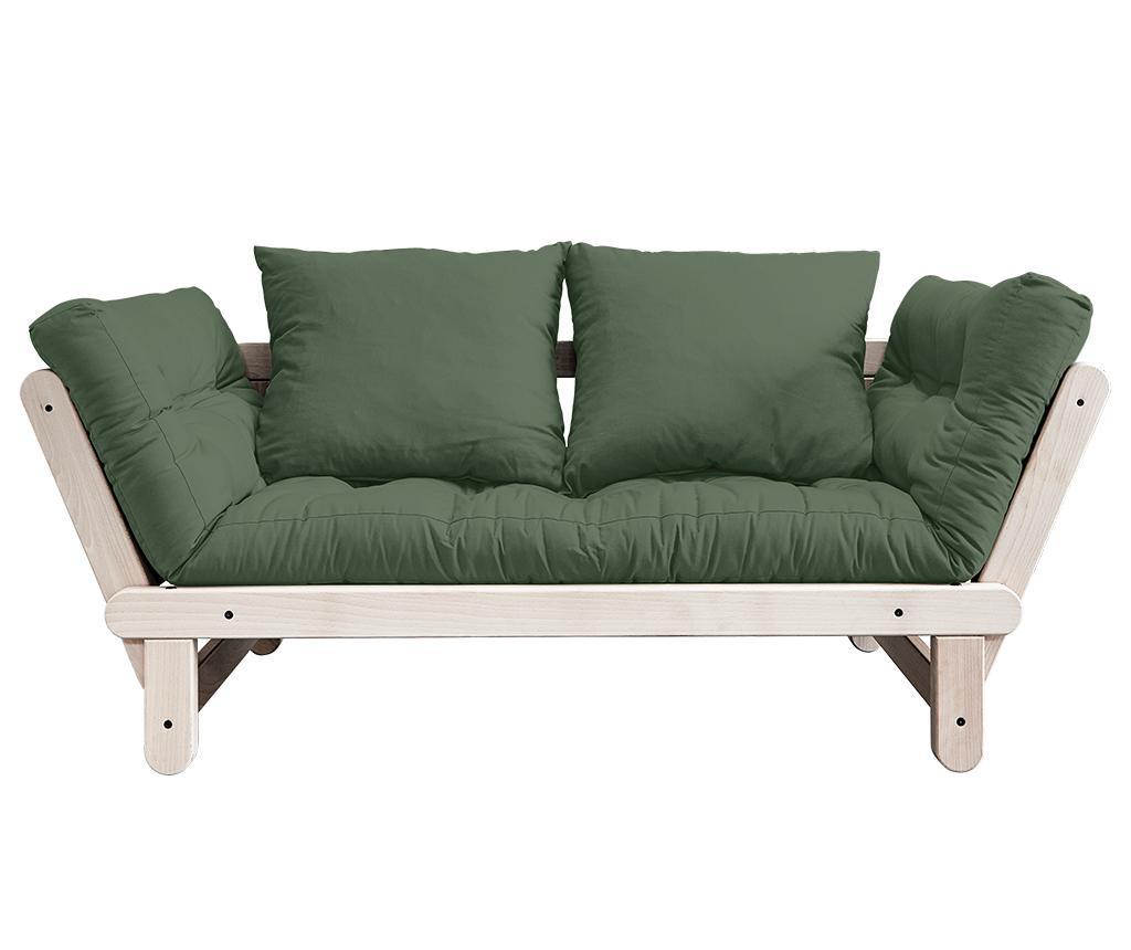 Kauč na razvlačenje Beat Natural & Olive Green