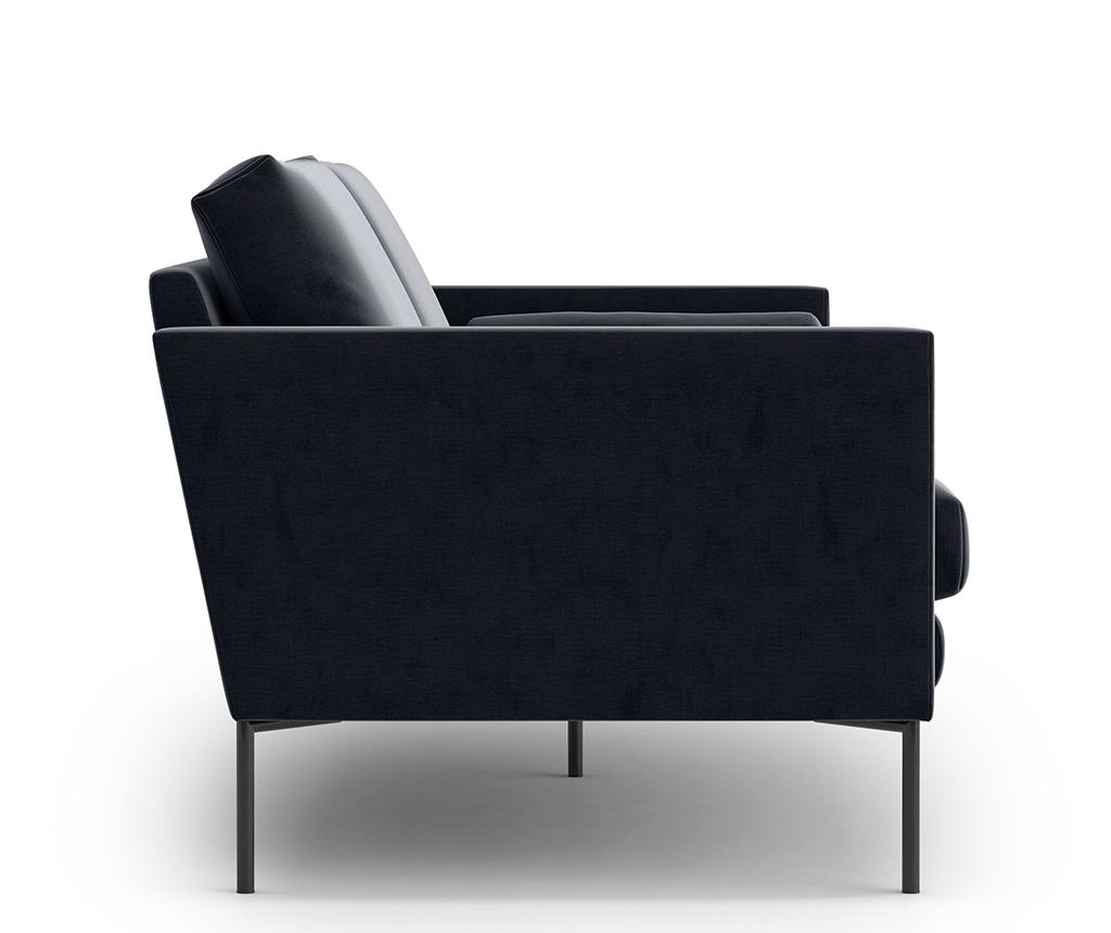 Blanca Monolith Black Háromszemélyes kanapé