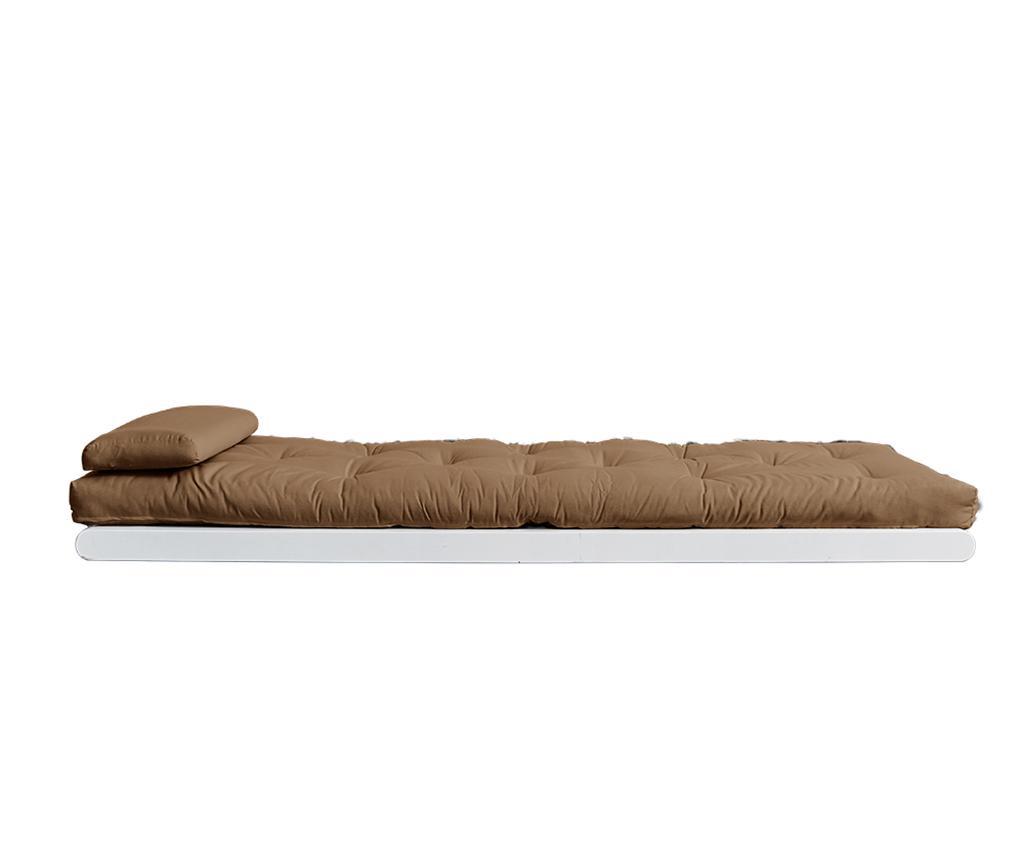 Raztegljiv počivalnik za dnevno sobo Figo White & Gris 70x200 cm