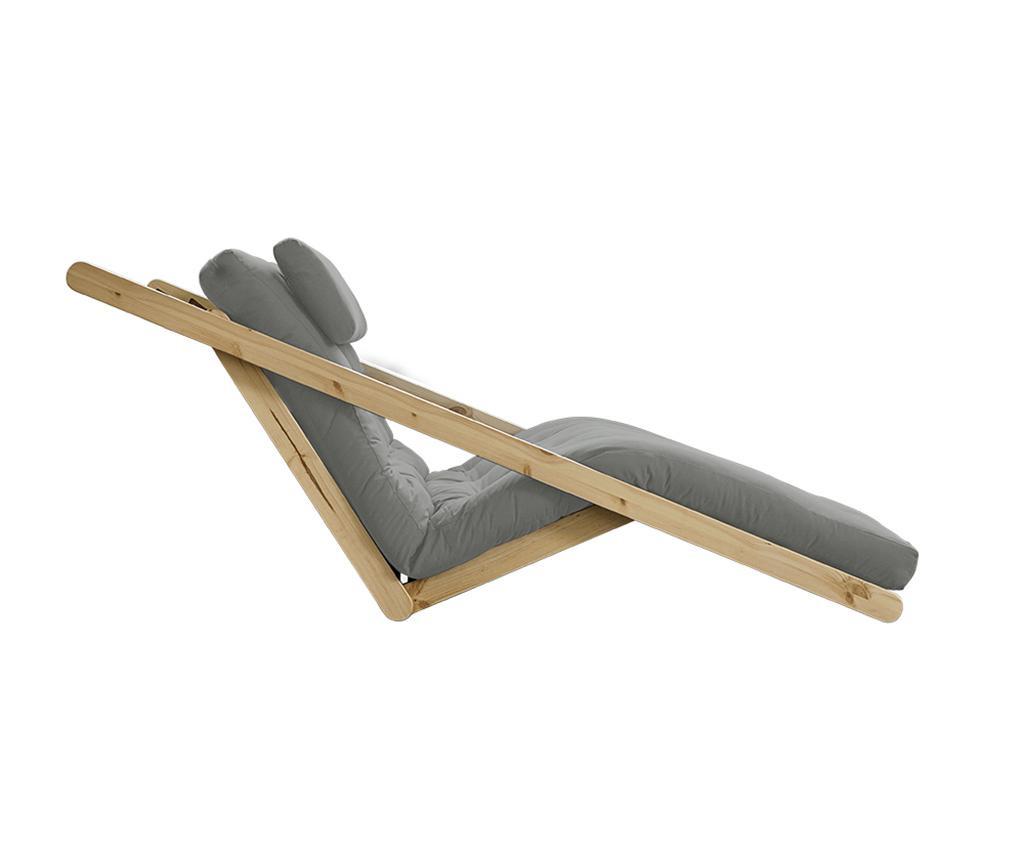Figo Natural & Grey Kihúzható nappali heverő 120x200 cm