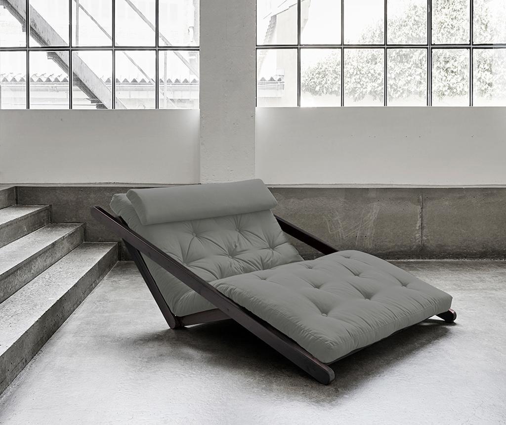 Raztegljiv počivalnik za dnevno sobo Figo Black & Grey 120x200 cm