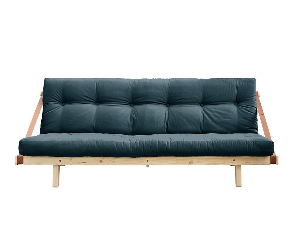 Kauč na razvlačenje Jump Natural & Petrol Blue 130x190 cm