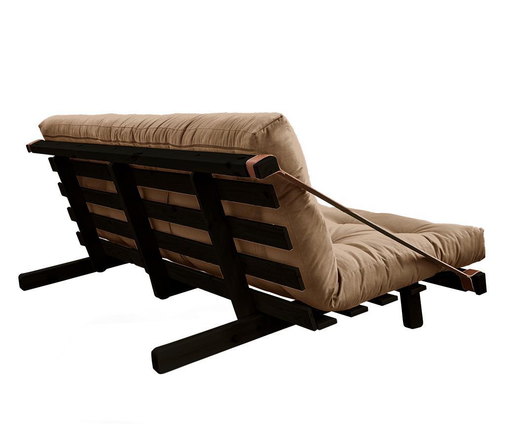 Kauč na razvlačenje Jump Black & Mocca 130x190 cm