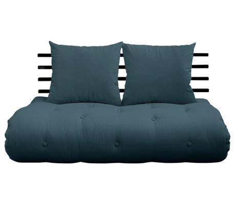 Sofa extensibila Shin Sano Black & Petrol Blue 140x200 cm
