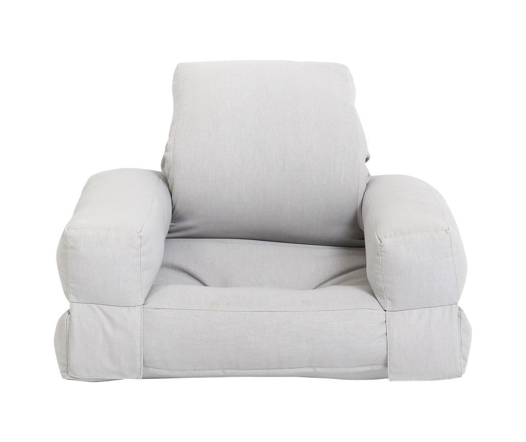 Mini Hippo Light Grey Kihúzható gyerek fotel 65x140 cm