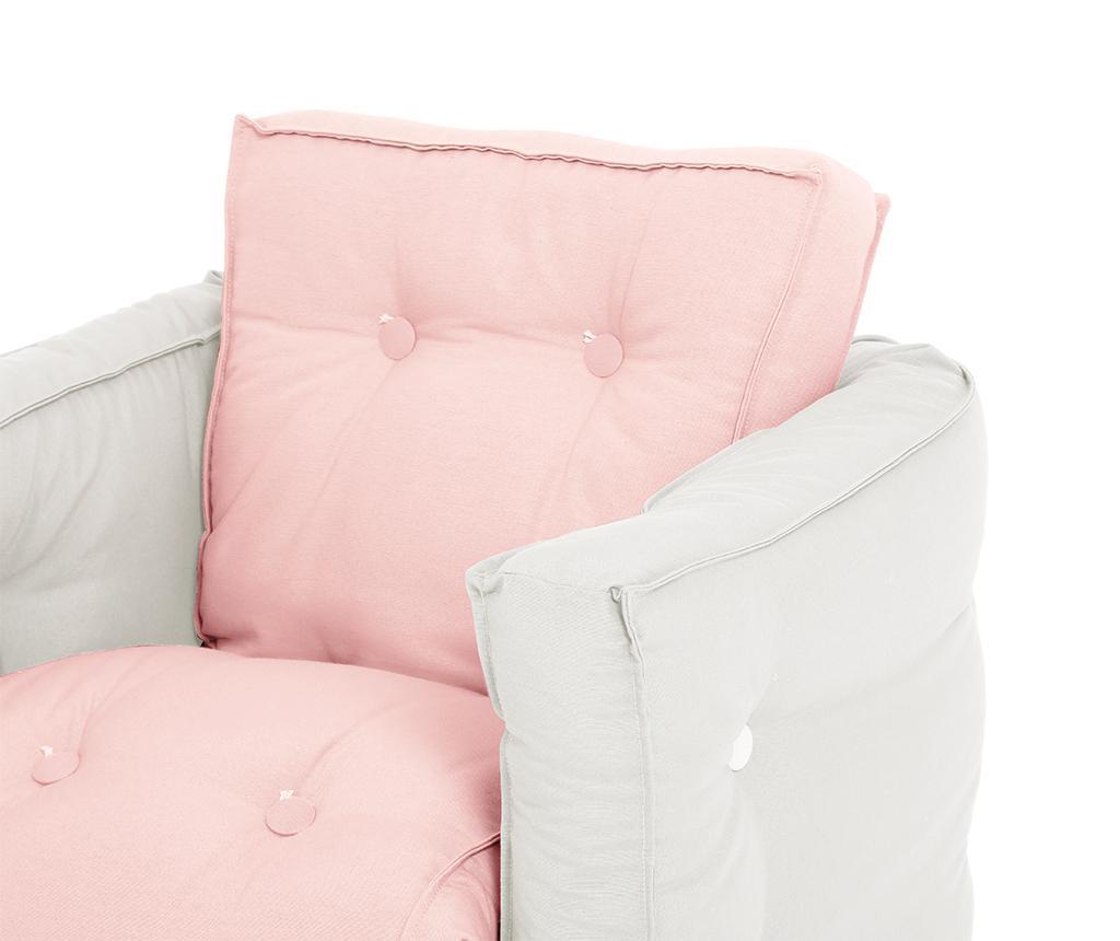 Fotoliu extensibil pentru copii Mini Dice Pink Peonie 40x140 cm