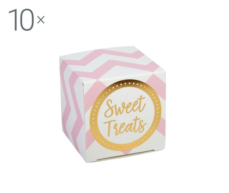 Set 10 kutija za konfete Pattern Works Pink