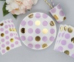 Set 8 krožnikov za enkratno uporabo Pattern Works Dots Lilac