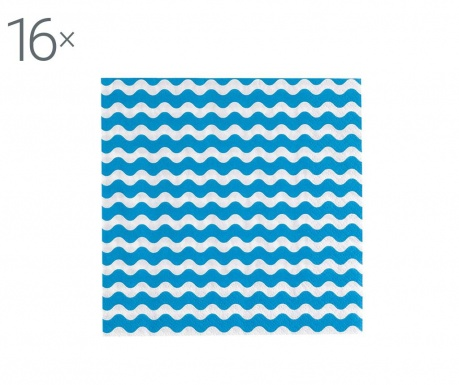 Carnival Waves Blue 16 db Szalvéta