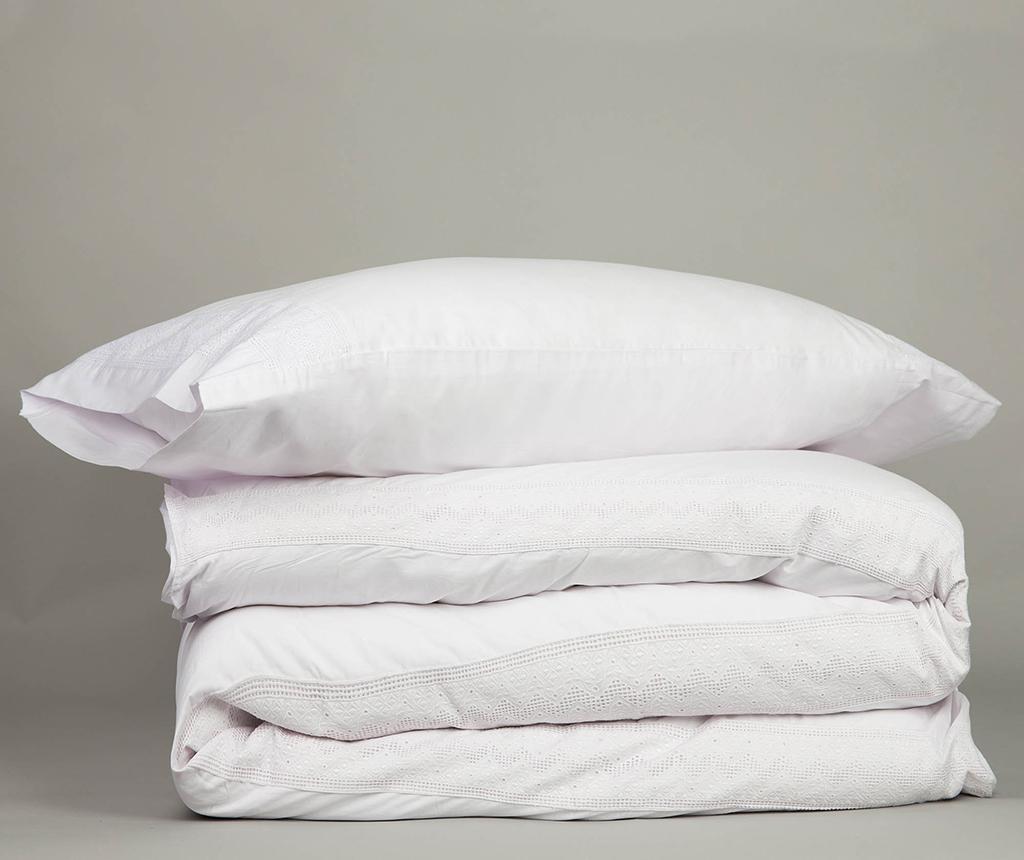 Set de pat Double Ursula  White