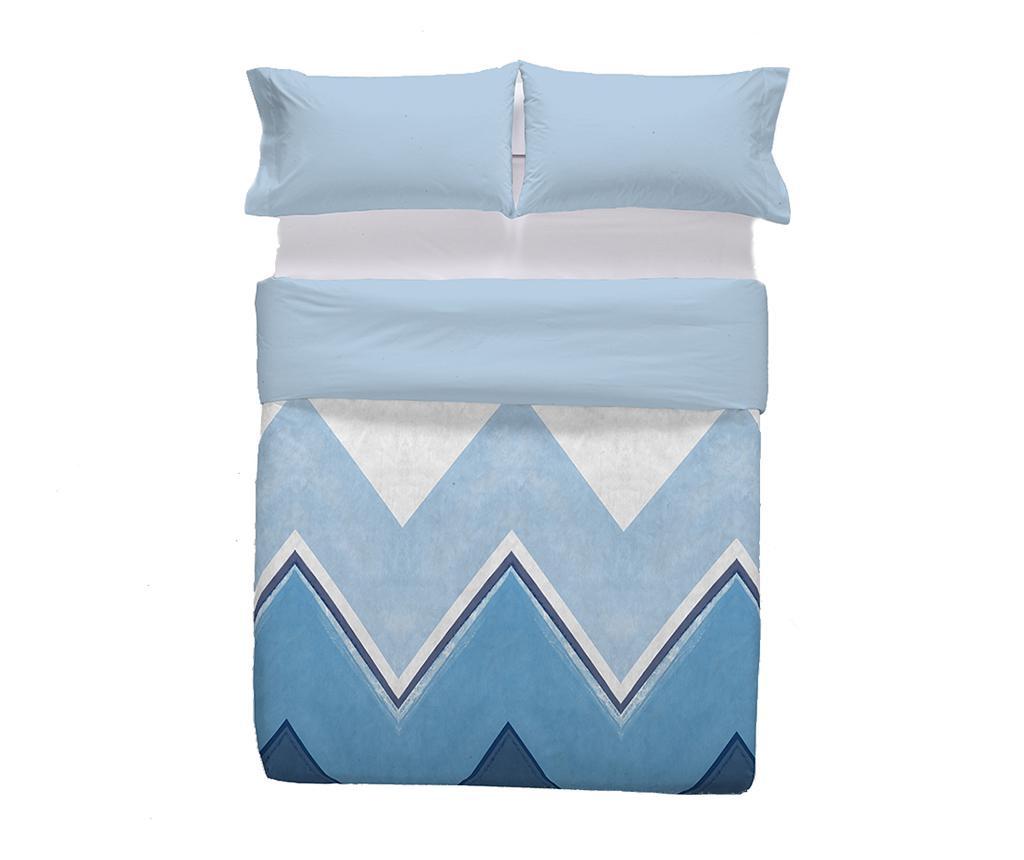 Set de pat Double Extra Ligari Blue