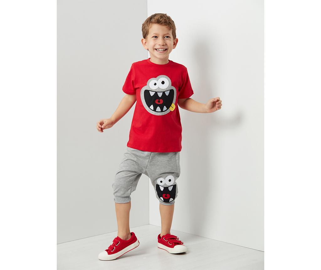 Otroški komplet - majica s kratkimi rokavi in tričetrt hlače Mr. Laugh Baggy 3 years