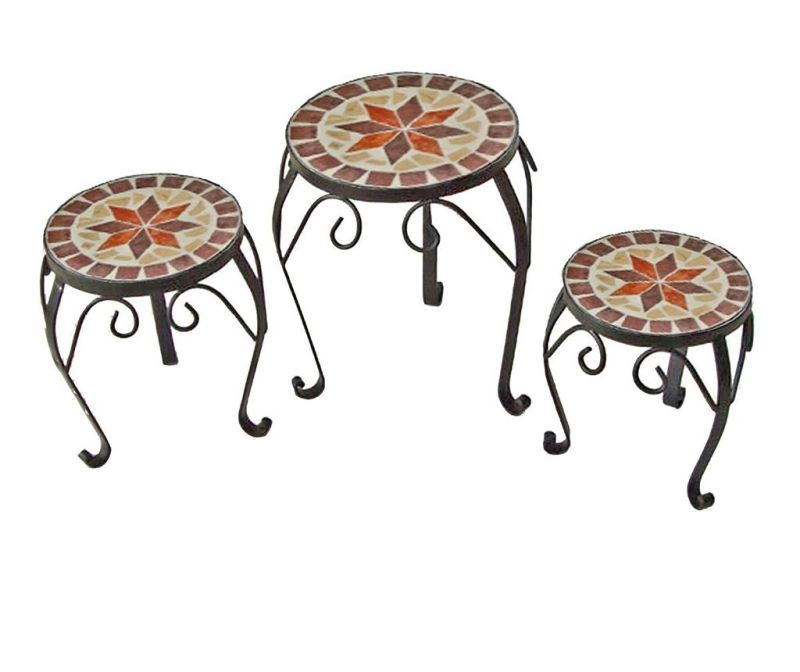 Set 3 stojal za cvetlične lonce Mosaic Flower