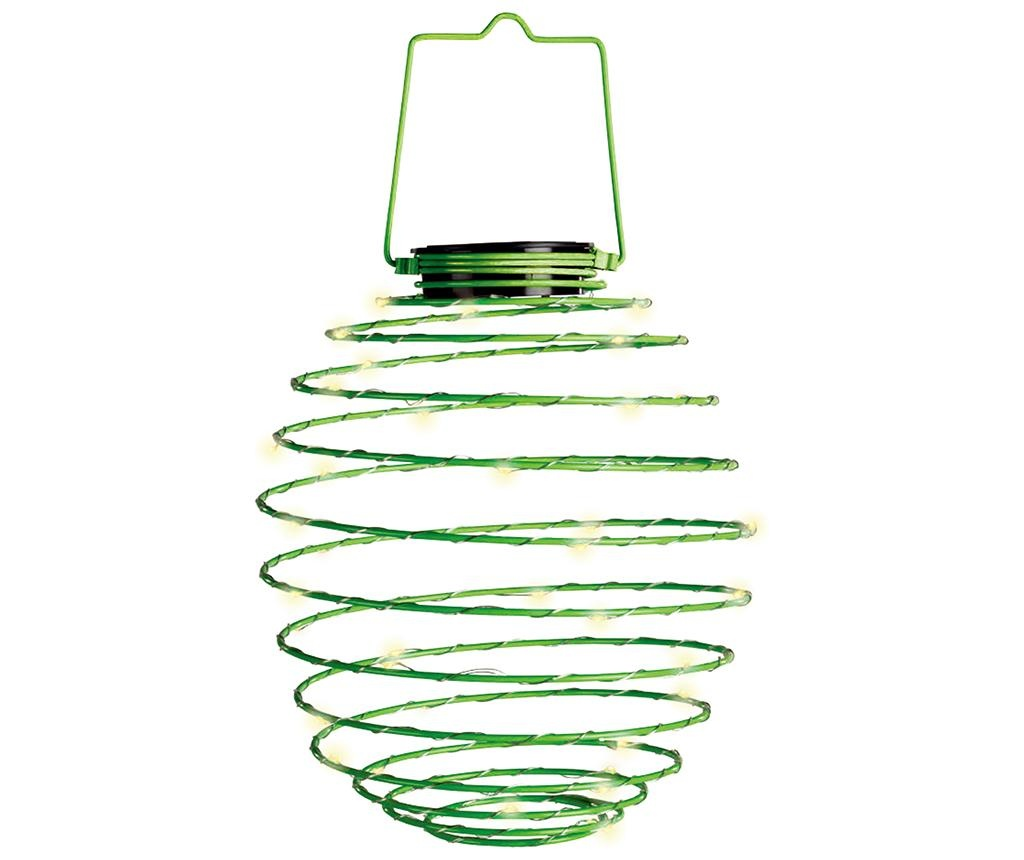 Spiral Green Napelemes lámpa