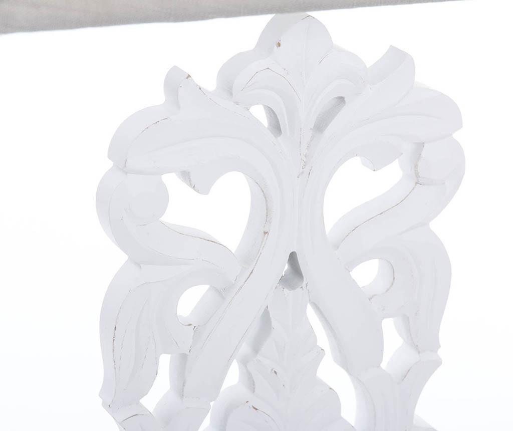 Lampka Sharp Flower White