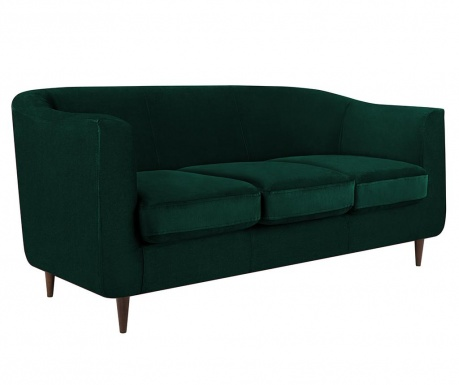 Canapea 3 locuri Glam Bottle Green