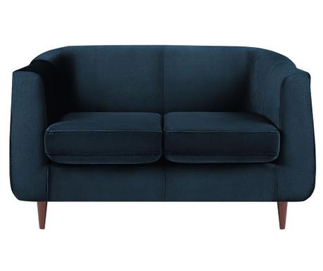 Canapea 2 locuri Glam Blue
