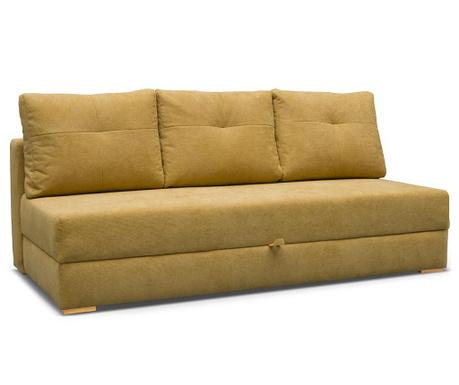 Dafne Yellow Háromszemélyes kihúzható kanapé