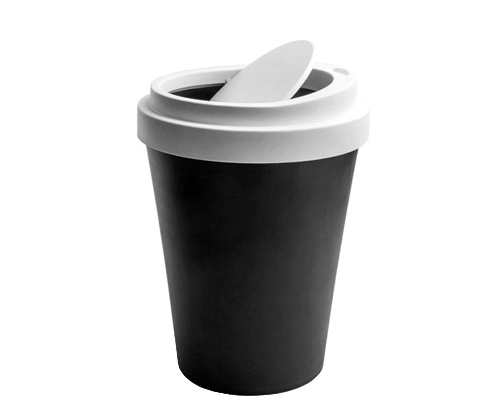 Coffee Black Szemetes kosár fedővel 7.9 L