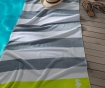 Prosop de plaja Albatros Grey 100x180 cm