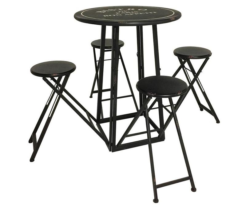 Beirut Asztal és 4 db összecsukható szék