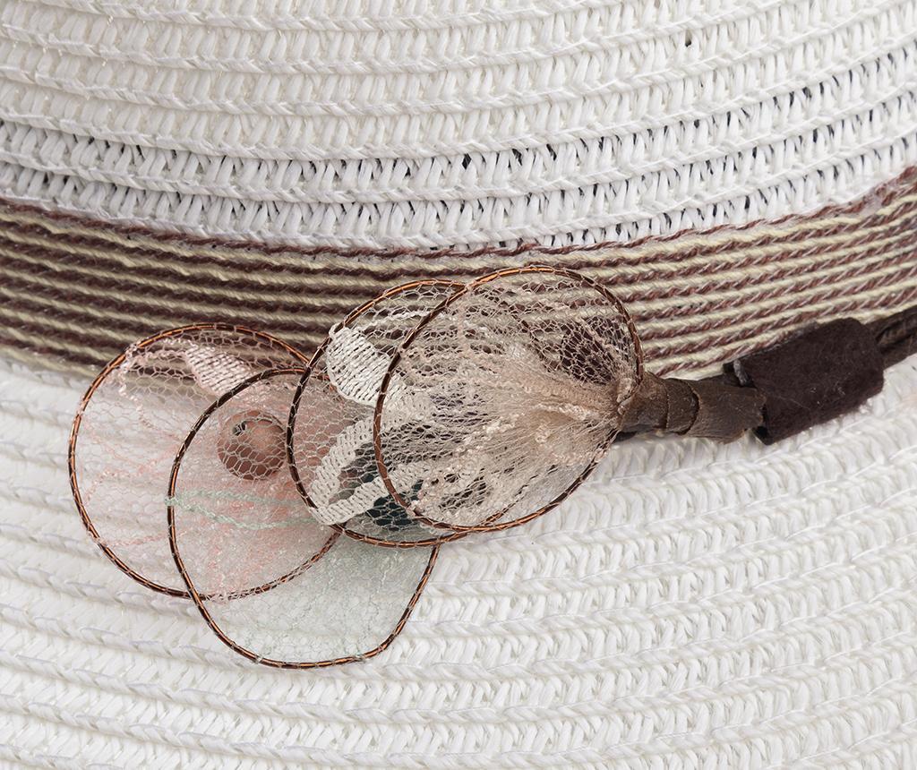Ženski klobuk Garden Feathers White