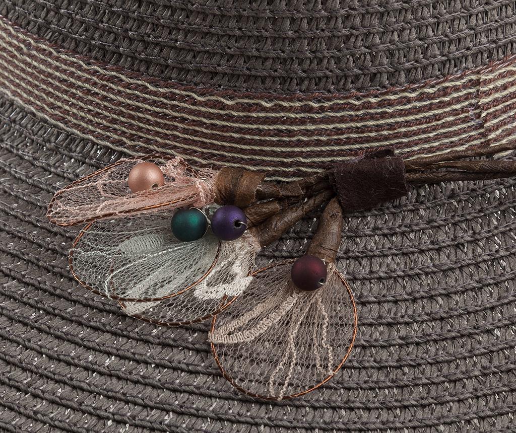 Dámsky klobúk Garden Feathers Grey