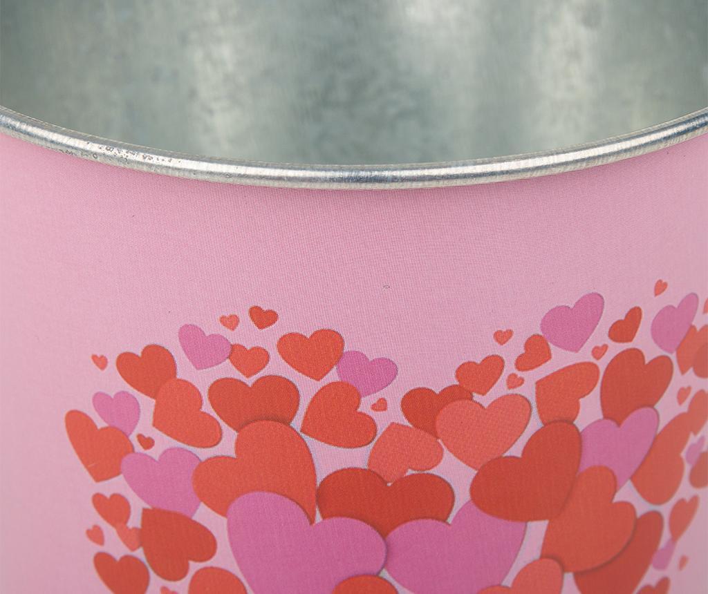 Hearts Pink Red Virágcserép