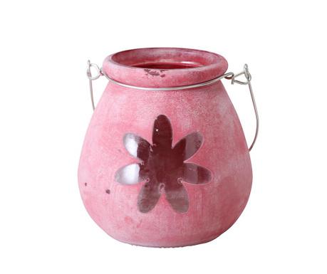 Svečnik Flower Pink