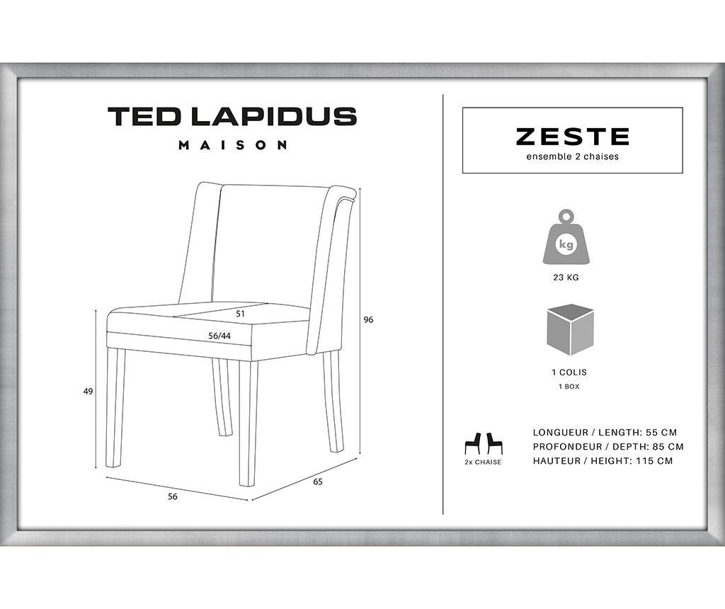 Комплект 2 стола Zeste Black & Powder