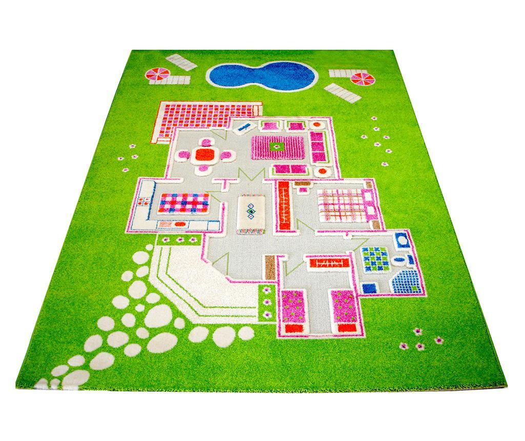 Koberec na hraní Playhouse Long 3D Green 160x230 cm