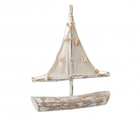 Dekorace Shells Sailing Boat Tall