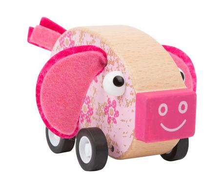 Masina de jucarie Pig Pull Back