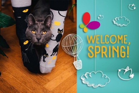Welcome, Spring: Sosete colorate Good Mood