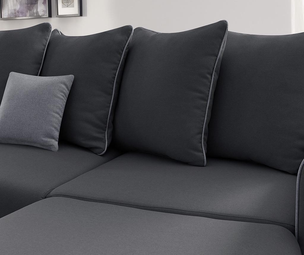Raztegljiva desna kotna sedežna garnitura Mola Dark Grey