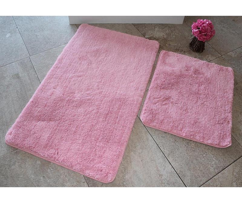 Sada 2 předložek do koupelny Manilla Light Pink