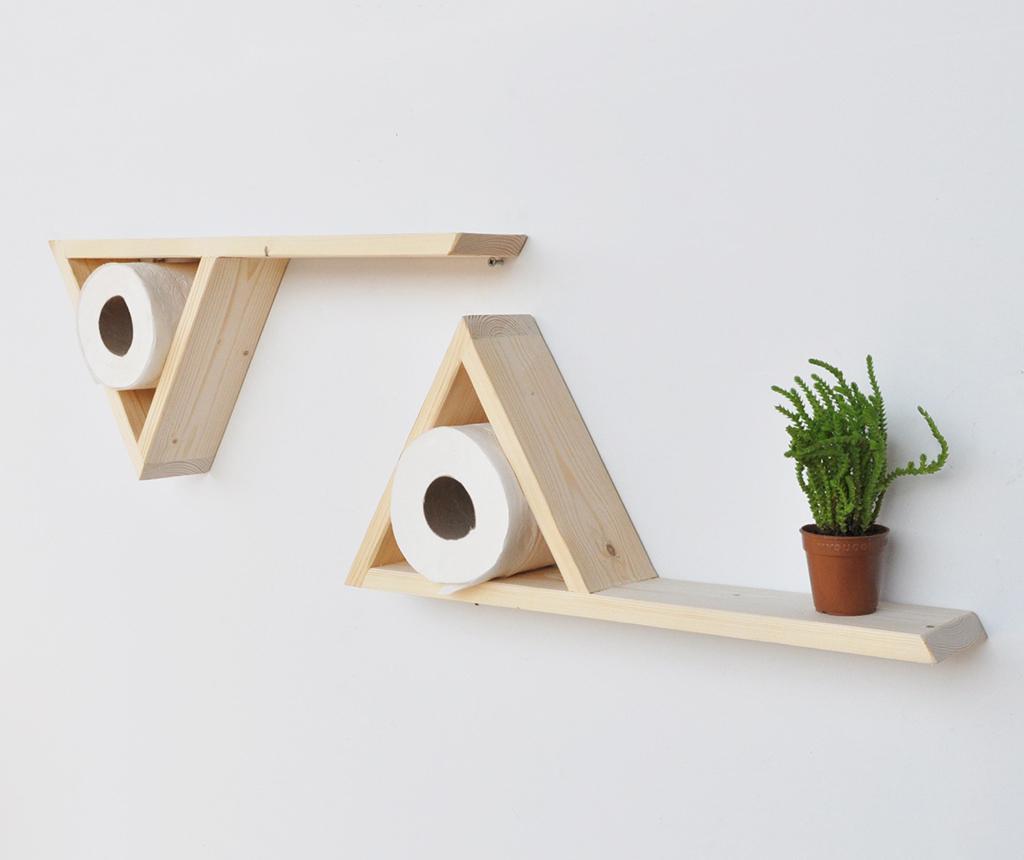Set 2 rafturi de perete Triangle