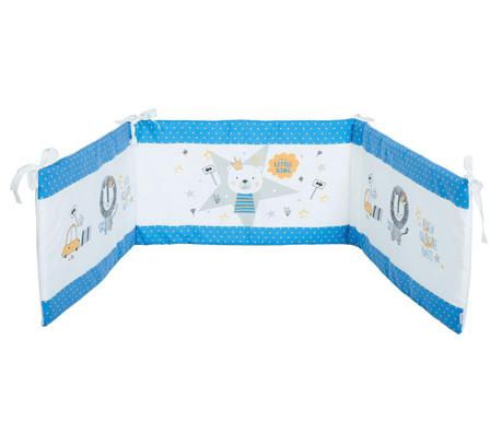 Protectie pentru patut Teddy King Light Blue 40x210 cm
